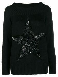 P.A.R.O.S.H. sequin star jumper - Black