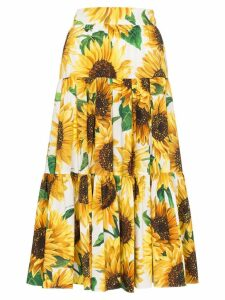 Dolce & Gabbana sunflower print midi skirt - HAHH9 MULTICOLOURED