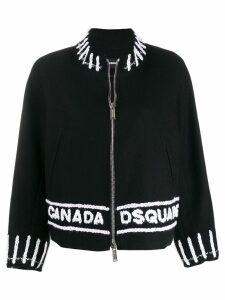 Dsquared2 logo zipped cardigan - Black