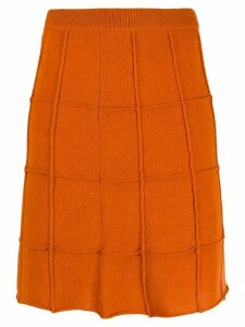 Steffen Schraut rectangular patterned skirt - Orange