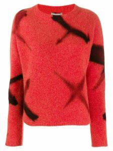 Suzusan fine knit sweatshirt - ORANGE