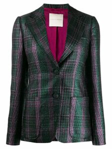 Marco De Vincenzo checked single-breasted blazer - Green