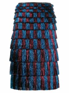 Marco De Vincenzo fringed skirt - Blue