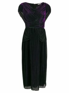 Marco De Vincenzo plissé midi evening dress - Black