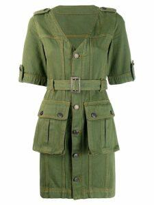 House of Holland military mini dress - Green