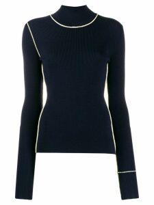 Maison Margiela contrast stitch turtleneck jumper - Blue