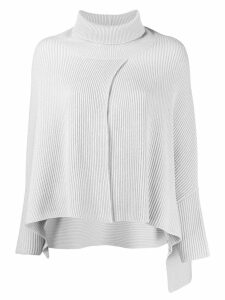 Fabiana Filippi turtleneck cape jumper - Grey