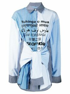 House of Holland sleeve tie striped shirt - Blue