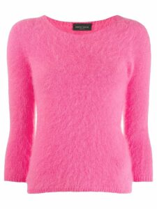 Roberto Collina cropped-sleeve knitted jumper - Pink