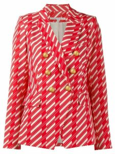 Veronica Beard geometric fitted blazer - Red