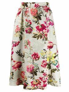 Etro floral print skirt - Neutrals