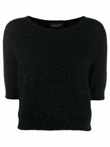 Roberto Collina glitter-knit top - Black