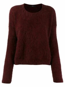High by Claire Campbell fuzzy sweatshirt - Red