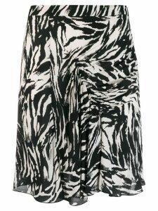 Nº21 zebra ruched short skirt - Black