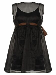 Miu Miu tulle mini dress - Black