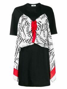 MSGM ruched T-shirt dress - Black