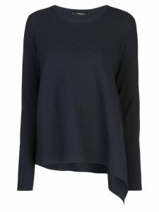 Derek Lam Long Sleeve Asymmetrical Knit Pullover - Blue