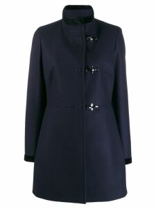 Fay high neck duffle coat - Blue