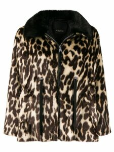 Pinko leopard print coat - Brown