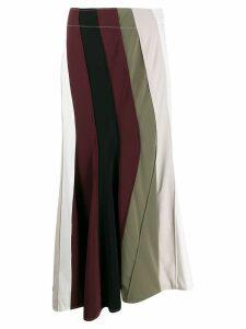 JW Anderson diagonal panelled flare skirt - White