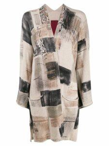 Masnada mix pattern maxi knitted top - Neutrals
