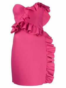 MSGM ruffled bustier dress - Pink