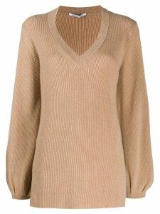 Agnona long sleeve knitted jumper - Neutrals
