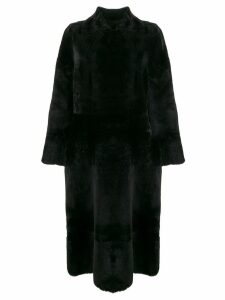 Rochas fur midi coat - Black