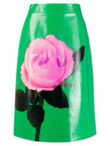 Prada rose motif skirt - Green