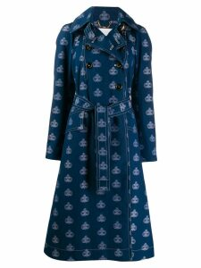 Chloé printed emblem trench - Blue