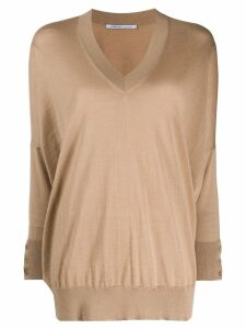 Agnona relaxed fit jumper - Neutrals