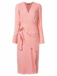 Altuzarra Lame wrap dress - Pink