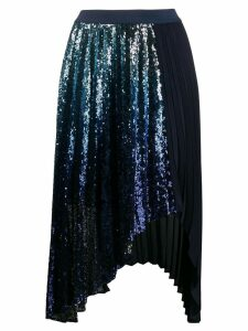 Pinko pleated sequinned skirt - Blue
