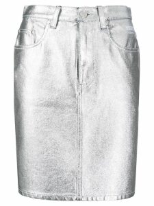 MSGM high waisted skirt - Silver