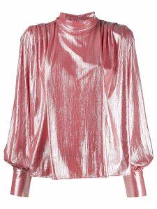 MSGM shine effect shirt - Pink