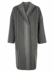 Brunello Cucinelli single breasted coat - Green