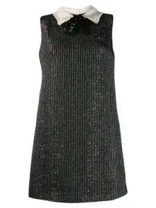 Miu Miu sheer shift dress - Black