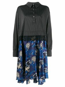 Faith Connexion contrast skirt shirt dress - Blue