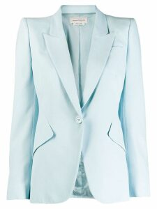 Alexander McQueen single button blazer - Blue