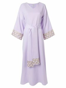 Layeur embroidered trim maxi dress - Purple
