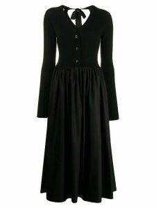 Prada ribbed cardi-top dress - Black