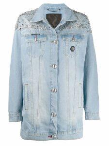 Philipp Plein oversized denim jacket - Blue