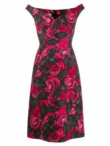 Prada rose printed midi dress - Pink