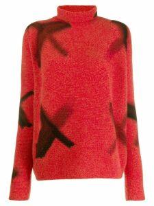 Suzusan roll neck sweatshirt - Red