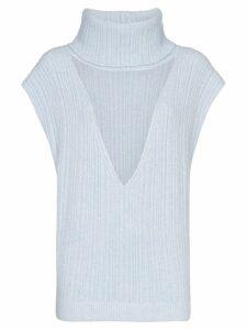 Jacquemus turtleneck cut-out knit vest - Blue
