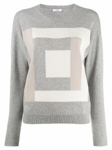 Peserico square motif jumper - Grey