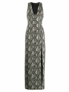 Alice+Olivia snake print dress - Black