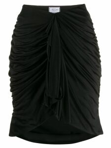 Redemption fitted drape skirt - Black