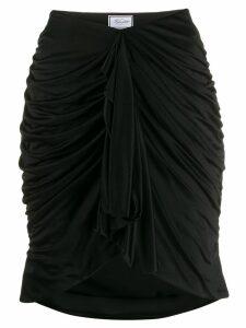 Redemption fitted drape skirt - Black