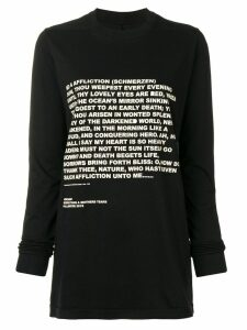 Rick Owens DRKSHDW slogan print T-shirt - Black